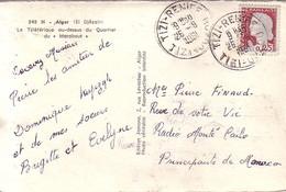 ALGERIE - MARIANNE DECARIS - TIZI-RENIFE - TIZI-OUZOU - 26-9-1961 - CARTE POSTALE ALGER (ELDJEZAIR) COTE 17€. - Covers & Documents