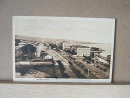 MONDOSORPRESA, CIVITAVECCHIA (ROMA) STAZIONE CENTRALE CON IMPIANTI FERROVIARI, VIAGGIATA  1924 - Italia