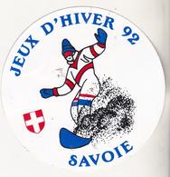 Rare Autocollant Jeux D'hiver 92 Savoie - Habillement, Souvenirs & Autres