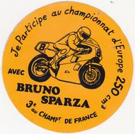 Rare Autocollant Moto Chapionnat D'europe 250 Cm3  Bruno Sparza - Apparel, Souvenirs & Other
