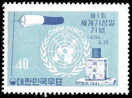 South Korea 1961 Meterological Day Unmounted Mint. - Korea, South