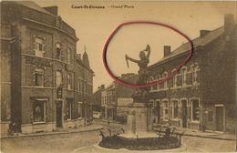 Court-Saint-Etienne :   Grand Place  ( Ecrit Avec Timbre ) - Court-Saint-Etienne