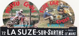 Rare Autocollant Moto-cross Side-car Cross La Suze-sur-Sarthe 6 Juin 1993 - Habillement, Souvenirs & Autres