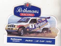 Rare Autocollant Rothmans Racing Paris-Le Cap 1992 Mitsubishi - Apparel, Souvenirs & Other