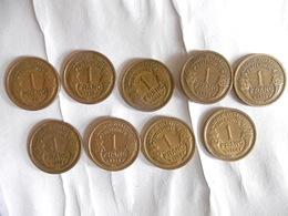 FRANCE- LOT 9 PIECES DE 1 FRANC 1931 à 1940(SANS LA 1935)-A122 - H. 1 Franc