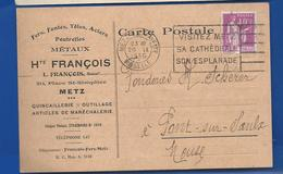 METZ     Quincaillerie:  Hte FRANCOIS   20 Place St Simplice    écrite En 1935 - Metz