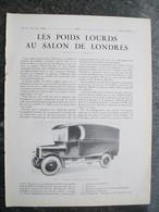 PUBBLICITA'/PUBLICITE' FOURGON DE LIVRAISONS GUY ,da Rivista AUTO CARRROSSERIE 1927 - Cars