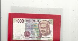"""BANCA D'ITALIA . 1.000 LIRE  TYPE """" M. MONTESSON  """"            N° PE 132712 Y - [ 2] 1946-… : Républic"""
