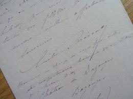 Emilie BROISAT (1846-1929) Actrice Théâtre COMEDIE FRANCAISE. Autographe - Autographes
