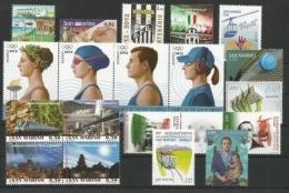 SAN MARINO - 2012 - Annata Completa - 19 Valori - Year Complete ** MNH/VF - Annate Complete