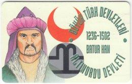 TURKEY B-458 Chip Telekom - Historic Ruler - Used - Türkei