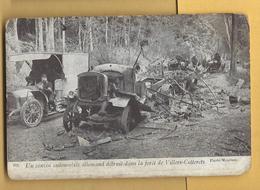 C.P.A. Villers-Cotterets - Convoi Automobile Allemand Détruit - Guerre 1914-18