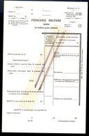 Bon De Commande De Timbres Poste Franchise Militaire Vierge Instruction De 1902 - Franchise Militaire (timbres)
