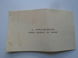 P1002.4 L.Krajewski -Consul Général De France - Greece Corfou Corfu -autograph On Namecard 1927 - Autographes