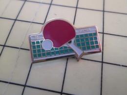 Pin115a Pin's Pins / Beau Et Rare : Thème SPORTS / TENNIS DE TABLE PING-PONG ST VIANCE RAQUETTE BALLE FILET - Table Tennis