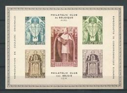 Belgique: Carte Souvenir Cardinal Mercier (Philatélic Club De Belgique) - Erinnophilie - Reklamemarken