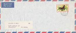 St. Vincent Air Mail Cover 29-7-1977 Single Franked BUTTERFLY - St.Vincent (1979-...)