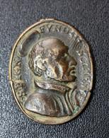 """Pendentif Médaille Religieuse Ancienne XVIIIe """"Saint François-Xavier / Saint Ignace-de-Loyola"""" Religious Medal - Religion & Esotérisme"""