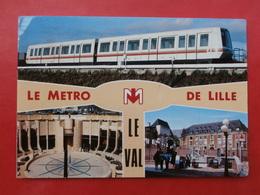 Cpm 59 LILLE  METRO Multivues LE VAL - Lille