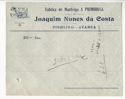 Commercial Cover * Portugal * Pinheiro-Avanca * Fabrica De Manteiga A Primorosa * Holed - Werbung