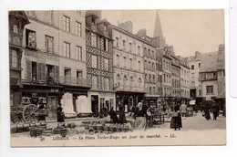 - CPA LISIEUX (14) - La Place Victor-Hugo Un Jour De Marché (belle Animation) - Editions Lévy N° 96 - - Lisieux