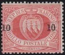 San  Marino       .   Yvert     .    11     .       *      .   Ongebruikt    .     /    .     Mint-hinged - San Marino