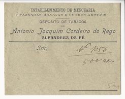 Commercial Cover * Portugal * Alfandega Da Fé * Antonio Joaquim Cordeiro Do Rego * Tabacos, Fazendas... * Holed - Publicités