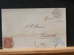 77/443  LETTRE DE LUZERN 1872 POUR ZURICH - 1862-1881 Sitted Helvetia (perforates)