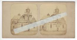 BELGIQUE BRUXELLES Circa 1850 1855 EGLISE BEGUINAGE PHOTO STEREO /FREE SHIPPING REGISTERED - Photos Stéréoscopiques