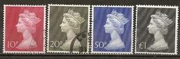 Grande-Bretagne Great Britain 1970 High Values Set Complete Obl - Machins