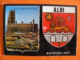 CP - ALBI - Basilique Ste Cécile - Blason Autocollant - Série Cap-Théojac - Albi
