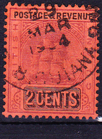 "Britisch-Guayana - Fregatte ""Sandbach"" (MiNr: 107) 1901 - Gest Used Obl - British Guiana (...-1966)"