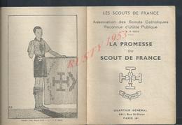 ANCIEN DEPLIANT LES SCOUTS DE FRANCE PARIS RUE SAINT DIDIER TOUT N EST PAS SCANNER : - Scoutisme