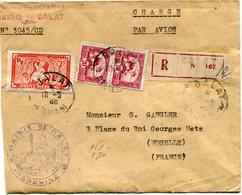INDOCHINE LETTRE RECOMMANDEE PAR AVION DEPART DALAT 10-5-48 ANNAM POUR LA FRANCE - Storia Postale