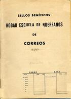 256 Sellos En Carnet-mapon De Correos. 1937 Edifil Beneficencia 9 Escaso Y Bien Conservado. Ver 2 Scan - Beneficiencia (Sellos De)