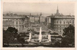 ältere Karte WIEN - Schwarzenbergplatz / Hochstrahlbrunnen - Wien Mitte