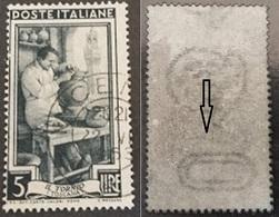 # Filigrana Lettere Bassa 10/10 +++ - 5 Lire Ruota 1° DB Italia Al Lavoro - 1946-60: Gebraucht