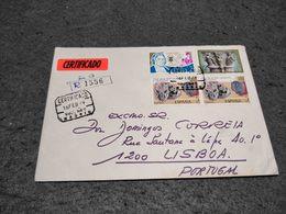 SPAIN CIRCULATED COVER MULTI STAMP MADRID TO LISBOA PORTUGAL REGISTERED 1979 - 1971-80 Briefe U. Dokumente