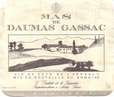 Etiket Etiquette - Vin - Wijn - Mas De Daumas Gassac - Aniane - Labels
