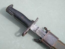 Baîonnette US Avec Son étui - 1908 - - Armes Blanches