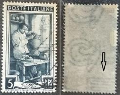 # Filigrana Lettere Bassa 10/10 - 5 Lire Ruota 1° DB Italia Al Lavoro - 1946-60: Gebraucht