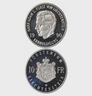 Liechtenstein 1990 Silver Coin - Hereditary Homage Hans-Adam II (1990) (Liechtenstein) - Liechtenstein