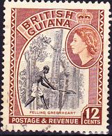 Britisch-Guayana - Baumfäller (MiNr: 206) 1954 - Gest Used Obl - British Guiana (...-1966)