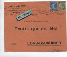 1933 - ENVELOPPE COMMERCIALE D'AJACCIO (CORSE) PAR AVION - Postmark Collection (Covers)
