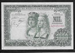 Espagne - 1000 Pesetas - 1957 - Pick N°149 - TTB - [ 3] 1936-1975 : Régence De Franco