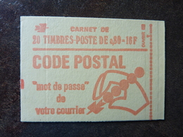 1974 Carnet CODE POSTAL Y&T= 1816 - C3 Conf 8  ** MNH - Carnets