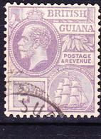 """Britisch-Guayana - König Georg V. Und Fregatte """"Sandbach"""" (MiNr: 142) 1923 - Gest Used Obl - British Guiana (...-1966)"""