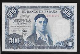 Espagne - 500 Pesetas - 1954 - Pick N°148 - SPL - [ 3] 1936-1975 : Regency Of Franco