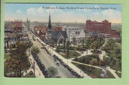DETROIT : Woodward Avenue, North Of Grand Circus Park. 2 Scans. - Detroit