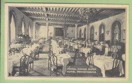 Hotel Pennsylvania, 7th Avenue : Formal Dining Room. 2 Scans. - Cafés, Hôtels & Restaurants